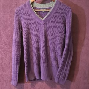 Purple TOMMY HILFIGER Sweater, Size Medium